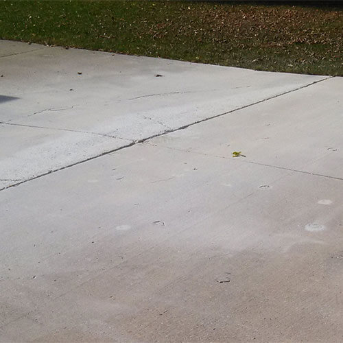 Concrete driveway after lifting