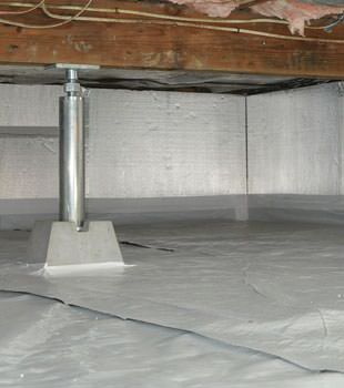 Installed crawl space insulation in Dalton