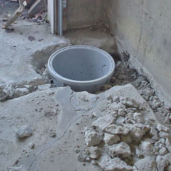 Placing a sump pit in a Hixson home
