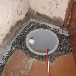 Installing a sump in a sump pump liner in a Johnson City home