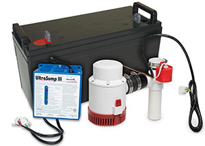 a battery backup sump pump system in Cleveland
