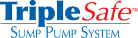 Sump pump system logo for our TripleSafe™, available in areas like Clinton