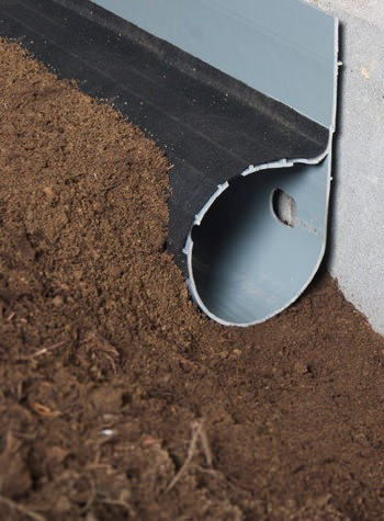 crawl space drain system installed in Harrison